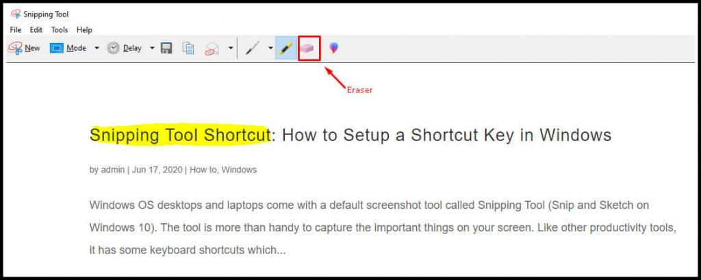 Edit Screenshot on Snipping Tool