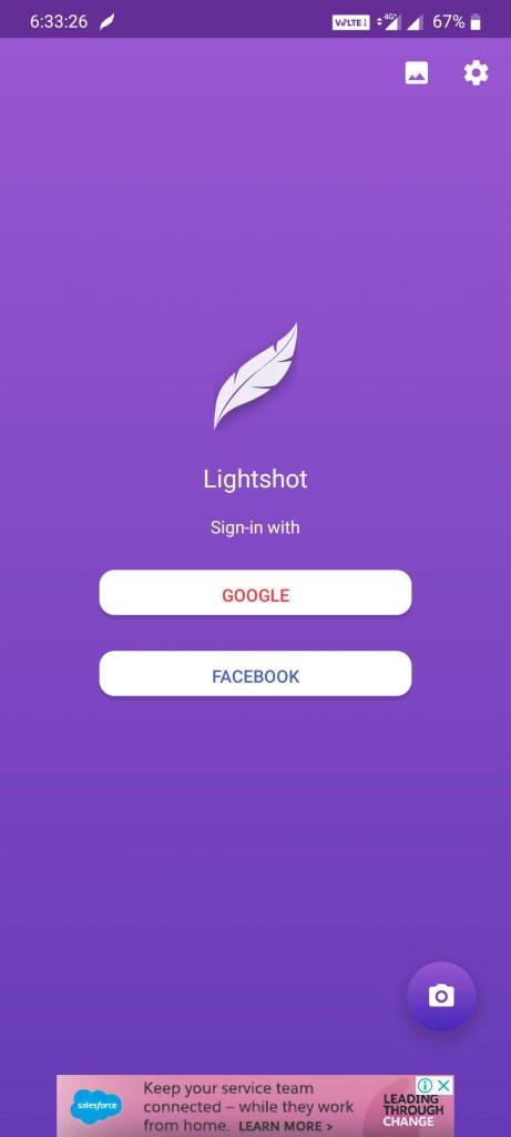 Lightshot on Android