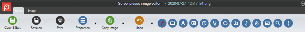 Screenpresso image editor