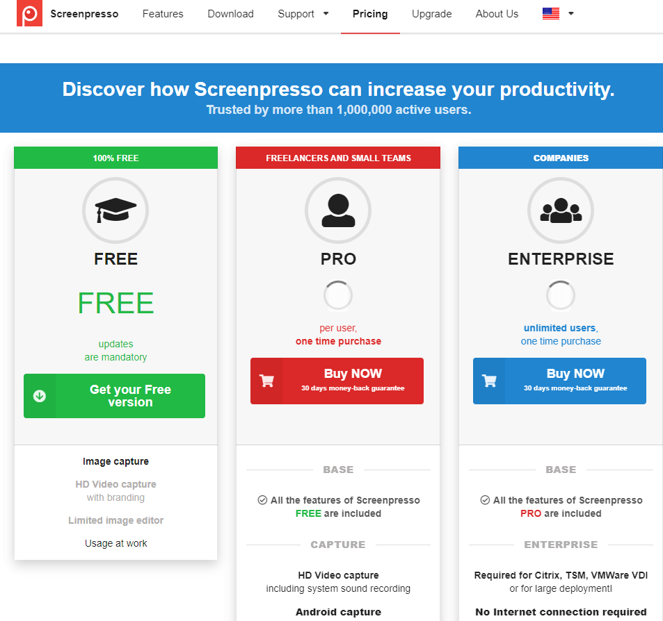 Screenpresso price