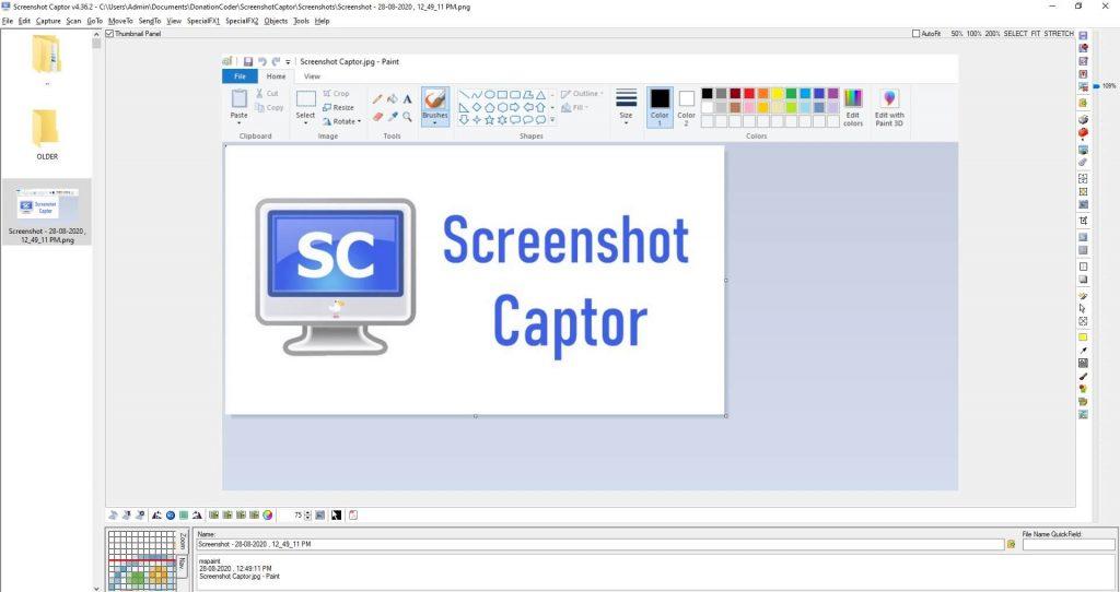 How to use Screenshot Captor