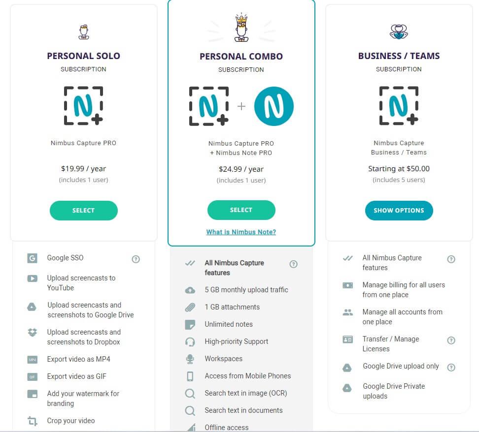 Nimbus Screenshot Price