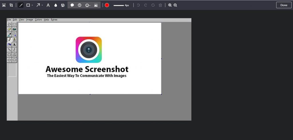 take screenshots using awesome screenshot