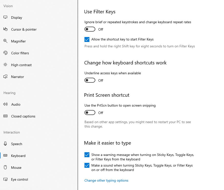 Enable Print Screen